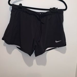 Nike shorts with attached spandex lining